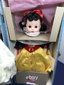 14 Madame Alexander Doll Snow White Trunk Set Extra Outfits & Acc. MINT NRFB