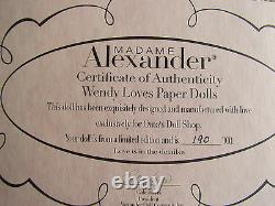2010 Madame Alexander 8 Inch Doll Wendy Loves Paper Dolls Oma's Doll Shop