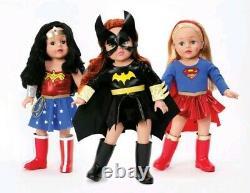 3 Madame Alexander Super Hero 18 Girl Dolls-Wonder Woman-Supergirl-Batgirl-NRFB