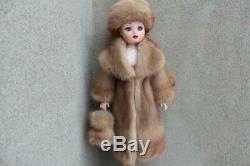 Autumn Haze Mink Fur Coat Hat & Muff for Madame Alexander Cissy dolldimitha
