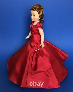 Beautiful Replica Cissy Doll Red Rhinestone Side Drape Gown (no doll)