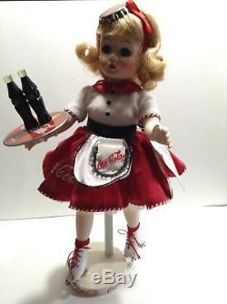 Coca Cola Car Hop 13 Porcelain Doll By Madame Alexander -1998 Danbury Mint -NIB