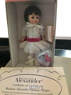 Degas 8'' Madame Alexander Doll #38210 From 2003 for Collectors United NRFB