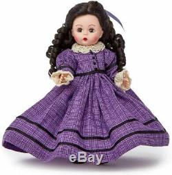 LITTLE WOMEN BETH 8 Madame Alexander Wendy Doll Black Hair Blue Eyes 75175 NEW