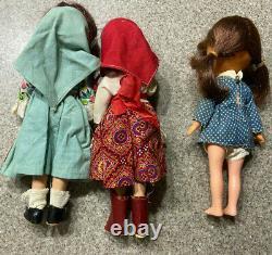 LOT of 3 Vintage'Madame Alexander' Wendy, Ann Doll 9 New York RARE Primitive