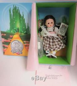 MADAME ALEXANDER 75TH ANNIVERSARY DOROTHY ARRIVES IN MUNCHKINLAND WithTOTO NIB$110
