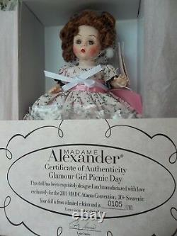 MIB Madame Alexander 2011 MADC 20+ Souvenir Glamour Girl Picnic LE 105/110 6408