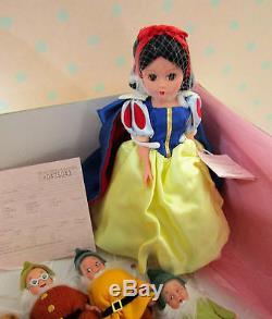 Madame Alexander 10 Snow White & Seven Dwarves Doll Set #35520 Rare Nib