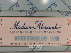 Madame Alexander 10 Winter Wonderland #19990 1999 Tag/stand Doty Awarded Nrfb