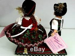 Madame Alexander 1992 8 Alpine Christmas Twin Dolls # MA-1030
