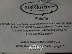 Madame Alexander 2016 Premiere Centerpiece Estella 10 Cissette Ltd Ed of 60
