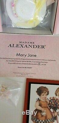 Madame Alexander 2019 Convention Souvenir Doll Mary Jane Nib Ltd Ed