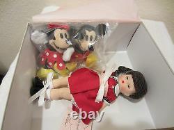Madame Alexander 8 Doll, Wendy Loves Mickey&Minnie (4.5+2Plush)39555 2003 MIB