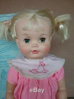 Madame Alexander Chatterbox 23 doll 1960s NIB new box talk untested pat pending