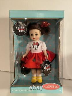 Madame Alexander Collectible Doll Disney Minnie Rocks the Dots 8 NRFB