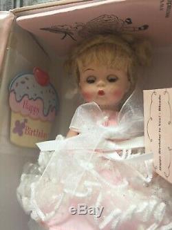 Madame Alexander Happy Birthday To You Doll Blonde #68305 Nib