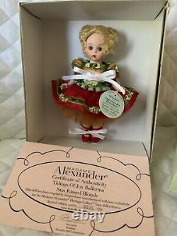 Madame Alexander Heritage Gallery Tidings of Joy Ballerina Blonde#41150