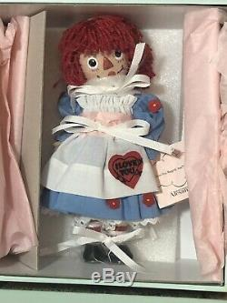 Madame Alexander I Love You Raggedy Ann Porcelain Nib COA 123/200 Limited Ed