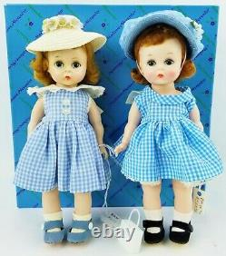 Madame Alexander-Kins 8 Dolls Set of 2 Wendy at Home 1959 and 1971 Gingham NEW