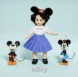 Madame Alexander Mouseketeer Wendy 8 Doll and Friends Mickey And Minnie