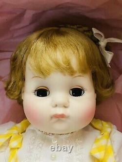 Madame Alexander Puddin NRFB #6930 Crier Baby Doll 18 new in box Yellow Jumper