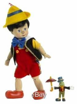 Madame Alexander Wooden Pinocchio & Jiminy Cricket Doll Ltd 258/500 #48705 Nib