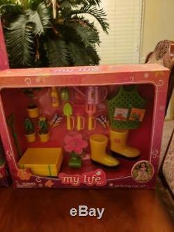 My life as Gardener 18 inch doll Blonde BUNDLE NIB