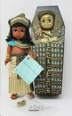 NEW MADAME ALEXANDER 8 EGYPT PHARAOH DOLL SARCOPHAGUS Rare NIB 1998