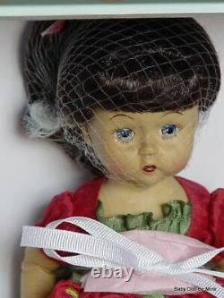 NIB Madame Alexander Floral Whimsy Wendykin WOOD Jointed 8 Inch Brunette Doll