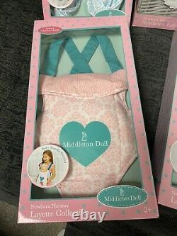 NIB Madame Alexander Middleton Doll Bundle WithDoll, Layettes, Bib, Sleeper & More