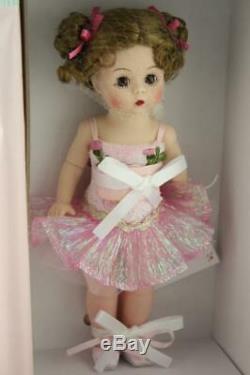 NIB Sparkling Flower Ballerina Doll 50150 Madame Alexander Pink Tutu Dress