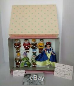 New And Nrfb Madame Alexander Snow White And The Seven Dwarfs Disney Doll Set