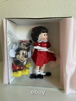 New Madame Alexander 8 Doll Wendy Loves Mickey and Minnie & 39555 2003 Disney