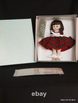 New Madame Alexander 90 Years of Christmas Wishes Brunette 8 Inch Doll