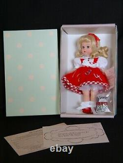 New Madame Alexander First Day of School 8 Inch Blonde Girl Doll in Red
