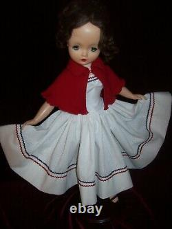 PATRIOTIC STRAPLESS DRESS with CASHMERE CAPE FOR MADAME ALEXANDER CISSY DOLL
