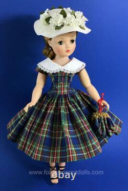 Replica Blue Plaid Dress, Hat & Purse for Madam Alexander Cissy 20 (No Doll)