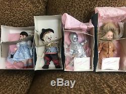 Set of Wizard of Oz Madame Alexander Dolls Dorothy, Scarecrow, Tin Man & Lion
