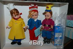 Snap, Crackle, Pop Madame Alexander 8'' Dolls withRice Kripies Ceral Box Last 1