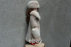 Snowtop Real Mink Fur Coat Hat Muff for Madame Alexander Cissy dollby dimitha