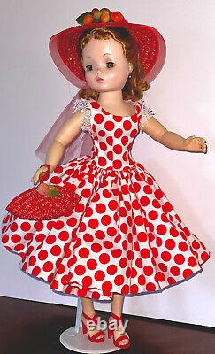 VINTAGE 1950s Madame Alexander CISSY DOLL Blonde Hair Redressed In New Outfit