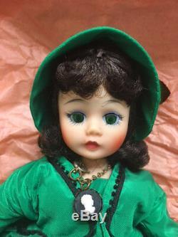 Vintage 1968 Madame Alexander 10 Cissette BK Scarlett Doll Box & Tag Green Gown