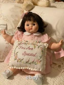 Vintage Madame Alexander Brown Hair & Eyes Puddin' Doll (1965) Pink Dress 20